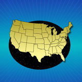 Map of the USA. Map of the United States of America Royalty Free Stock Image