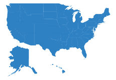 Map of usa. High detailing
