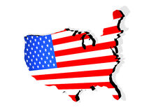 Map the USA. 3d. Beautiful three-dimensional graphic object Stock Image