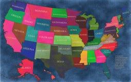 Map of USA Stock Image
