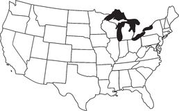 Map of USA Royalty Free Stock Image
