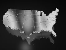 Map of usa Royalty Free Stock Photos