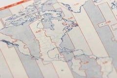 mapę usa Zdjęcie Stock