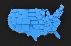 mapę usa Obrazy Royalty Free
