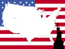 Map of USA background Royalty Free Stock Images