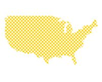 Map of the USA in checkerboard pattern stock photography