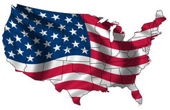 Map of the USA flag Royalty Free Stock Image