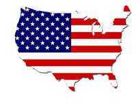 Usa flag map Royalty Free Stock Photography