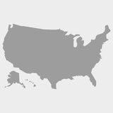 Map of the USA in gray on a white background Stock Images