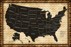 Map of USA with states Stock Photo