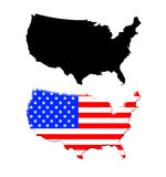 Map usa vector Royalty Free Stock Image