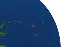 Map of Vanuatu in red Stock Photo