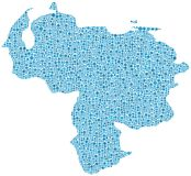 Map of Venezuela Royalty Free Stock Photography