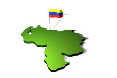 Map of Venezuela Royalty Free Stock Images