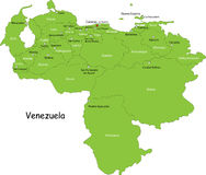 Map of Venezuela Royalty Free Stock Photos