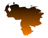 Map of Venezuela Royalty Free Stock Image