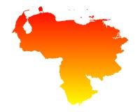 Map of Venezuela Stock Image