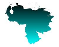 Map of Venezuela Stock Photo