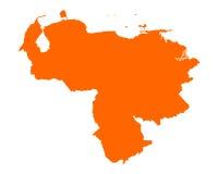 Map of Venezuela Royalty Free Stock Photography