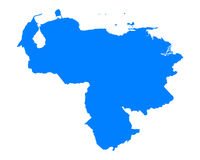 Map of Venezuela Stock Images