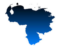 Map of Venezuela Stock Photography