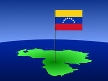 Map of Venezuela with flag vector illustration