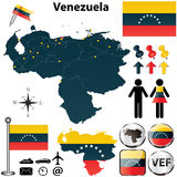 Map of Venezuela Stock Images