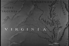 Map of Virginia stock video footage