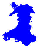Map of Wales Royalty Free Stock Photography