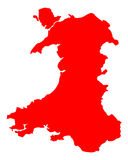 Map of Wales. Detailed and accurate illustration of map of Wales Royalty Free Stock Photography