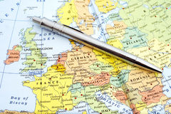 Map of Western Europe.  Royalty Free Stock Images