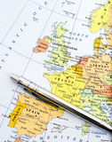 Map of Western Europe Royalty Free Stock Image