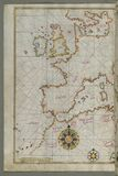 Map of western Europe and North Africa, from Book on Navigation, Walters Art Museum Ms. W.658, fol.64a Stock Photography