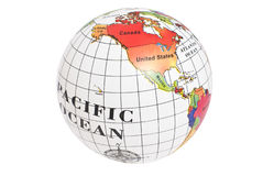 Map of Western hemisphere of the Earth Stock Images