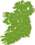 Map of the whole Ireland. stock image