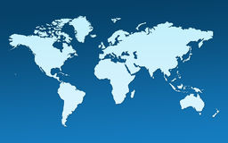 Map of the whole world Royalty Free Stock Photo