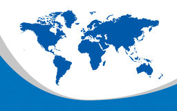 Map of the whole world Royalty Free Stock Photography