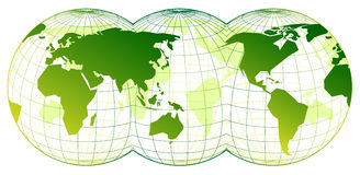 Map of the world. On the white background Royalty Free Stock Photos