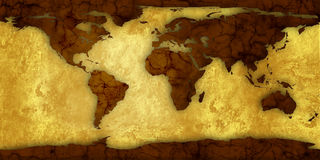 Map of world royalty free stock images