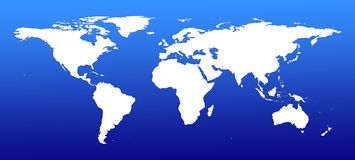 Map of world Stock Images