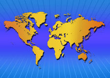 Map of the World. Illustration Royalty Free Stock Photography