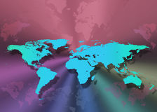 Map of the World. Worldwide Travel - Map of the World Royalty Free Stock Photography