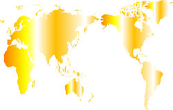 A map of world Royalty Free Stock Photos