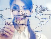Map of the world Stock Photography