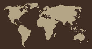 Map of World. Work with vectors Stock Images
