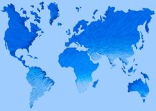 Map of world royalty free stock photo
