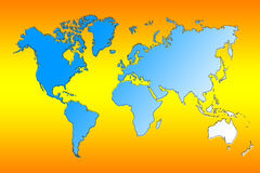 Map of the World. Map of the design concept for all Royalty Free Stock Photos