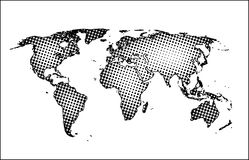 Map of the world. Highly detailed map of the world Royalty Free Illustration