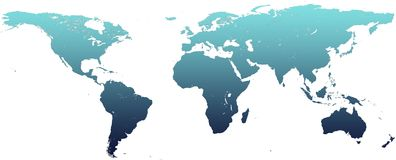 Map of the world. A map of the world with a nice calm gradient Royalty Free Stock Image