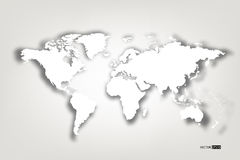 Map of the world. Stock Image